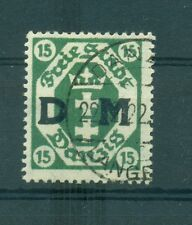 FREE CITY OF DANZIG - GERMANY 1921 15 Pf Official Stamp