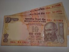 - India Paper Money - 20 X Rs.10/- Old 'Mg' Notes - Dr. Y.V. Reddy -2006 # 20A