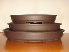NUOVA GAMMA-Set di 3 qualità superiore in plastica ovale BONSAI POT