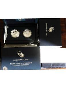 2013-W 2-Coin American Silver Eagle 75th ANNIVERSARY West Point Set w/Box & COA
