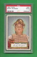 1952 Topps #357 Smoky Burgess **** CENTERED *** PSA Good 2 *** old baseball card