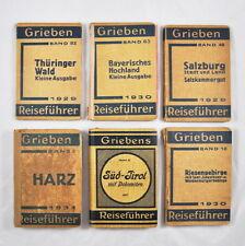 6 x Grieben Reiseführer: Harz Süd-Tirol Salzburg Riesengebirge Thüringer Wald