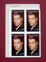 Sc # 4421 ~ Plate # Block ~ 44 cent Gary Cooper Issue (de1)