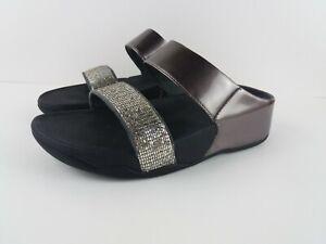 FitFlop Womens 6 Lulu Superglitz Slide Sandal B24-011-070