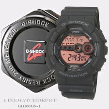 Authentic Casio G-Shock Men's Military Black Digital Watch GD100MS-1