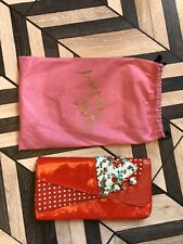 Irregular Choice Red Patent Clutch Bag With Dust Bag
