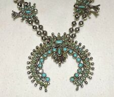 Vintage SW (Artist Unknown) Handmade Turquoise Beaded Necklace