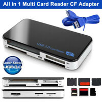All in 1 USB 3.0 Compact Flash Multi Card Reader 5gbps CF Adapter Micro SD MS XD