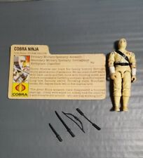 New listing Vintage G.I. Joe Storm Shadow Action Figure 1984 Complete w/ black major weapons