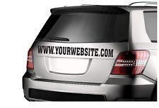 Custom Website Banner Personalized Vinyl Decal Sticker DieCut Car Van Pickup dub