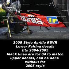 Lower fairing decal set, fits 2004 2005 2006 2007 2008 2009 Aprilia RSVR