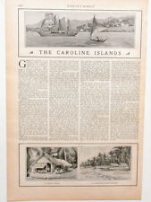 Harper's Weekly Page The Caroline Pacific Islands NOT Cannibals! Germany 1900