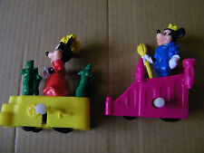 MINNIE AND MICKEY MOUSE BURGER KING WIND UP VINTAGE TOYS