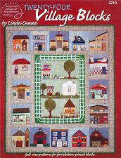 TWENTY FOUR 24 VILLAGE BLOCKS Quilting Pattern Paperback Crafts Book English NEW