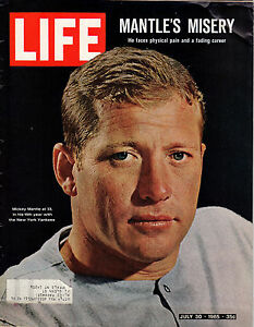 1965 (Jul. 30) Life Magazine,  Baseball, Mickey Mantle, New York Yankees