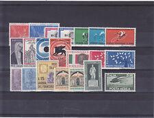 ITALIA REPUBBLICA 1962 ANNATA COMPLETA 20 VALORI GOMMA INTEGRA