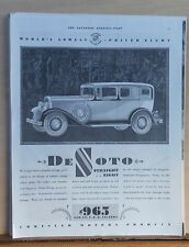 1930 magazine ad for DeSoto - Straight Eight, no penalty of high price attached