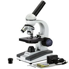 AmScope 40X-1000X Compound Microscope Metal w/ Optical Lens Student & Multi-Use