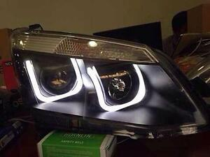 ISUZU D-MAX HOLDEN 12 13 14 FRONT SMOKE BLACK HEADLIGHT LAMP PROJECTOR LED EAGLE