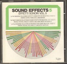 SOUND EFFECTS vol 5 GOLD CD 80 track EFFETTI SONORI English Francais Italiano