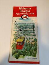 Vintage Enco Road Map - Alabama and Georgia