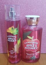 bath and body works champagne apple and honey shower gel fine fragrance mist