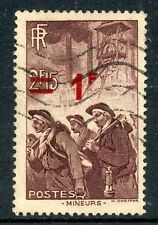 STAMP / TIMBRE FRANCE OBLITERE SURCHARGE N° 489 / METIER MINEUR