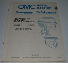 OMC Parts Catalog Evinrude Johnson Outboards Junior Colt Models EJR-CEB JCO-CEB!