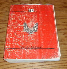 Original 1988 Pontiac Firebird Service Shop Manual 88