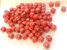 ca. 100 Würfel gelocht für Bastler rot klein Schmuck ca. 9 mm Kette Mode Cube