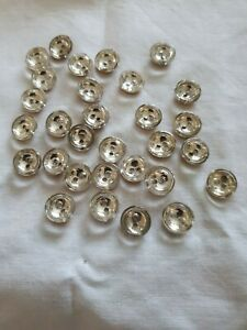30 Vintage original french crystal Buttons