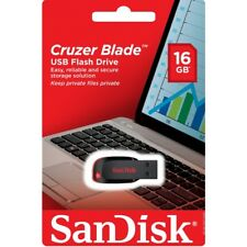 NEW SanDisk 16GB Cruzer Blade CZ50 USB 2.0 Flash Memory Stick Pen Drive