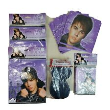 Justin Bieber VIP Party Invitation Cards Envelopes Loot Bags 42 Pieces Crepe Str