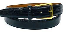 """Trafalgar Genuine Lizard Belt Size 42 1 1/8"""" Wide Made in USA Brass Buckle"""
