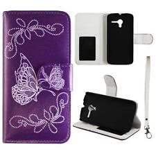Flip Wallet Silver ButterflyPurpleCamoFor Motorola Moto X Phone Pu Leather Cover
