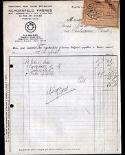 """PANTIN (93) USINE d'ARTICLES MENAGER en CAOUTCHOUC """"SCHOENFELD Freres"""" en 1933"""