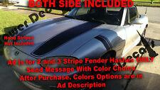 Mazda Miata 1998-2001 Gen 2 Fender Hash 2 or 3 Stripes Vinyl Decals - Both Sides