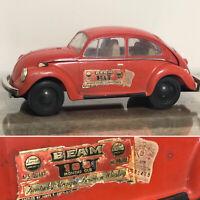 Jim Beam Red VW Volkswagen Beetle Decanter Whiskey EMPTY