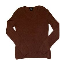 Lord & Taylor Womens Cashmere Pullover Seeater Brown Size Medium