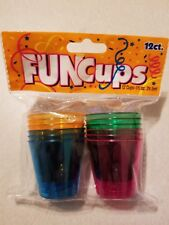 FUN CUPS PART CUPS 12 COUNT FREE SHIPPING
