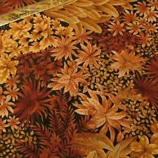 Alexander Henry brown tan large scale leaf floral cotton fabric BTHY half yard
