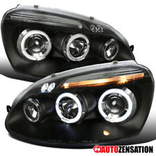 For 06-08 Volkswagen Golf MK5 Black Halo Projector LED DRL Headlights Head Lamps