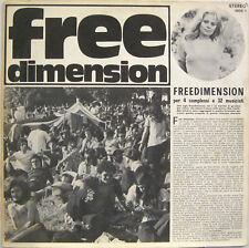 "VARIOUS ""FREEDIMENSION""  lp Italy PERIGEO BRAINTICKET N.A.D.M.A. near mint"