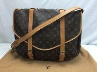 """Auth Louis Vuitton Monogram Saumur 40 Shoulder bag  8L120020n"""""""
