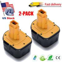 2 Pack 12V 12 Volt Drill Battery For DEWALT DC9071 DW9071 DW9072 DE9071 DE9072