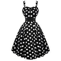 Hearts & Roses London Black White Polka Dot 50s Dress with Bolero Shrug UK