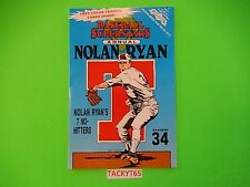 NOLAN RYAN (RANGERS) BB SUPERSTARS ANNUAL ISSUE 1 NOV 1992 + CARDS