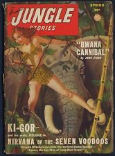Fiction House JUNGLE STORIES Pulp, Spring 1949, GEORGE GROSS Cover, Very  Good