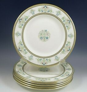 MINTON HENLEY BONE CHINA SET OF 8 BREAD AND BUTTER PLATES EXCELLENT