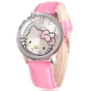Kids Watch Hello Kitty Cartoon Pattern Children Kids Girls Quartz Analog